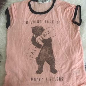 Cute California bear tee